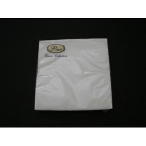 Serwetka dekoracyjna biała 33x33 cm – 20 szt.