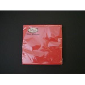 Serwetka dekoracyjna czerwona 33x33 cm 20 szt.