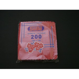 Serwetka ząbkowana czerwona 15x15 cm – 200 szt.