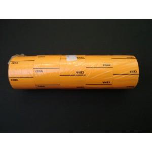 Etykieta cenowa na rolce średnia pomarańczowa 30x40 mm– 5 szt.