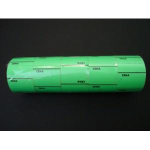 Etykieta cenowa na rolce średnia zielona 30x40 mm – 5 szt.