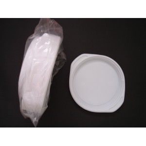 Talerz obiadowy plastikowy 22 cm – 100 szt.