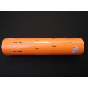 Etykieta cenowa na rolce duża pomarańczowa 30x50 mm – 5 szt.