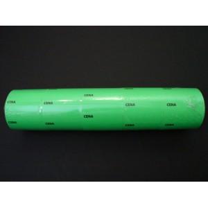Etykieta cenowa na rolce duża zielona 30x50 mm – 5 szt.