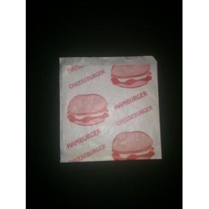 Opakowanie hamburger foliowany duży 15x18 cm -  200 szt