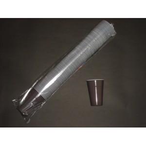 Kubek plastikowy 200 ml brązowy – 100 szt.