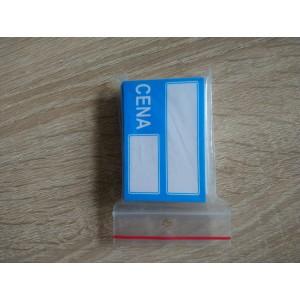 Etykieta cenowa papierowa 6,5x4 - 25 szt.